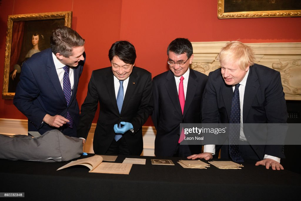 Boris Johnson And Gavin Williamson Hold Meetings With Japanese Counterparts