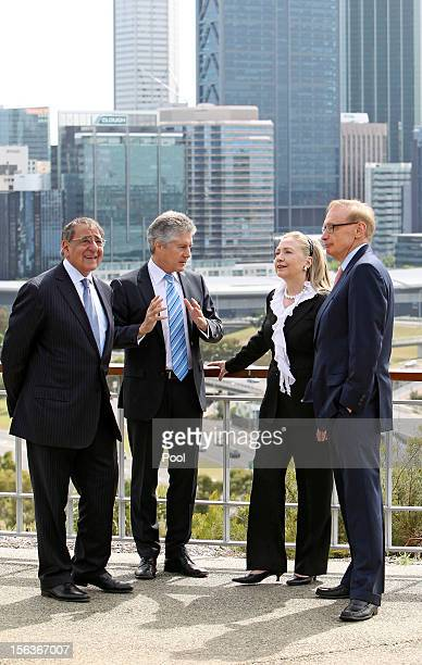 US Defence Secretary Leon Panetta Australian Minister of Defence Stephen Smith US Secretary of State Hillary Clinton and Australian Foreign Affairs...