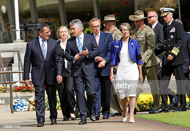 US Defence Secretary Leon Panetta US Secretary of State Hillary Clinton Australian Minister of Defence Stephen Smith and Australian Foreign Affairs...