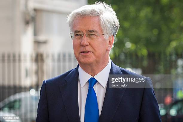 Defence Secretary Michael Fallon arrives for David Cameron's final cabinet meeting as Prime Minister at Downing Street on July 12 2016 in London...