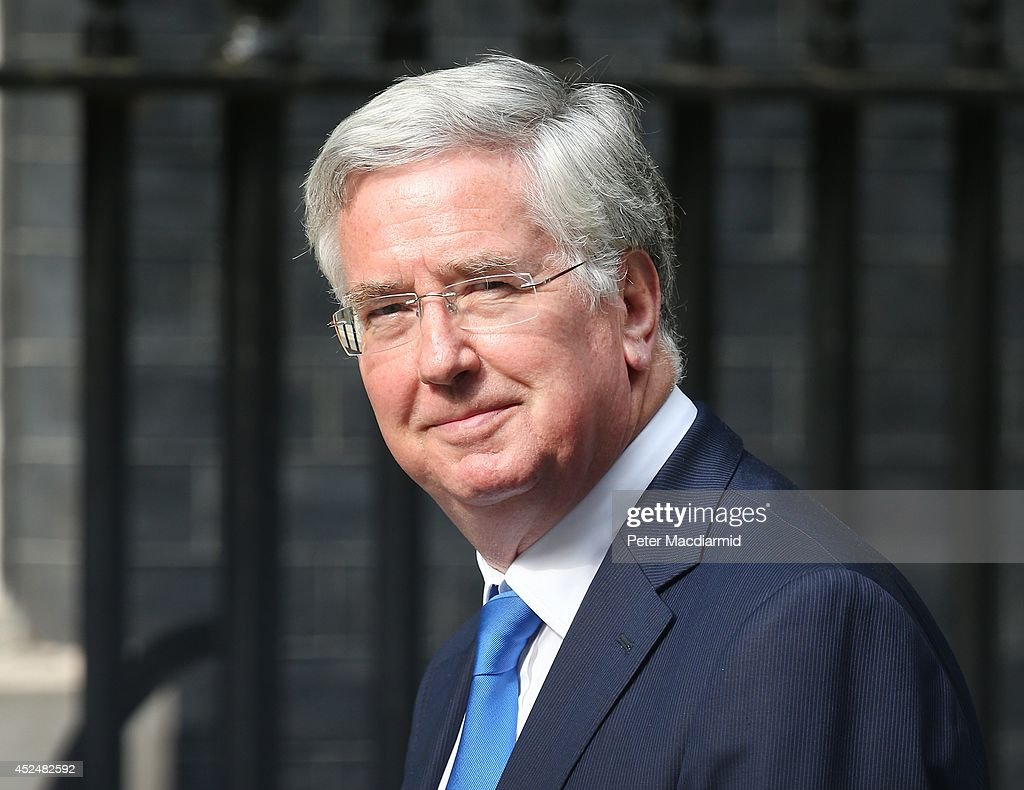 Defence Secretary Michael Fallon arrives in Downing Street on July 21, 2014 in London, England. Prime Minister David Cameron is holding a National Security meeting.