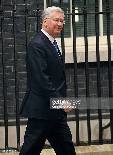 Defence Secretary Michael Fallon leaves Number 10 after his reappointment on May 8 2015 in London England After the United Kingdom went to the polls...