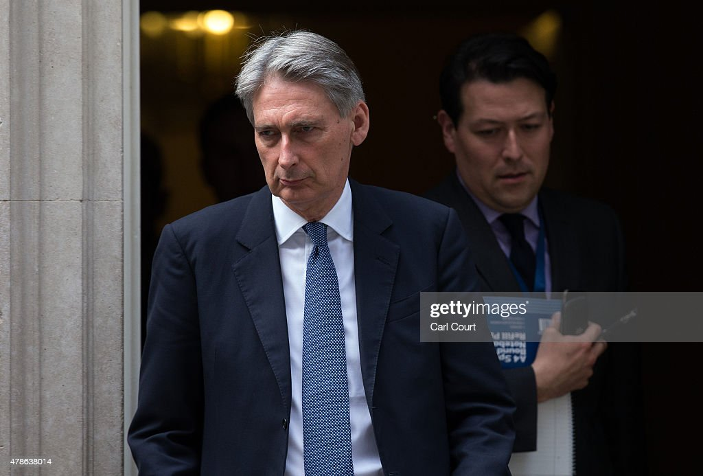 Defence Secretary Philip Hammond leaves Downing Street after attending an emergency security meeting following the deadly attacks on tourists in Tunisia, on June 26, 2015 in London, England. Around 37 people, mainly foreign tourists, are believed to have been killed as gunmen launched an attack on a beach in the Tunisian resort of Sousse.