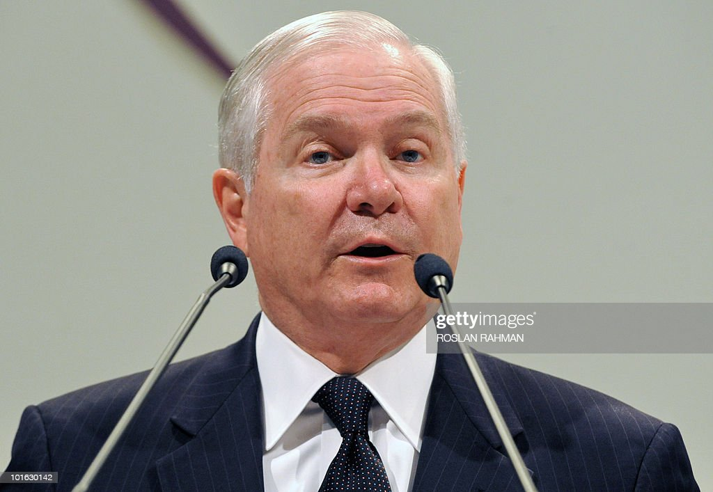 US Defence Secretary Robert Gates delive