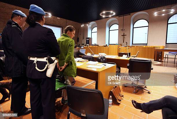 Defendant Amanda Knox looks on during a break in the Meredith Kercher trial on December 3, 2009 in Perugia, Italy. Amanda Knox and her former Italian...