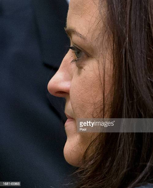 Defendant Beate Zschaepe arrives in court on the first day of the NSU neoNazi murder trial on May 6 2013 in Munich Germany The main defendant Beate...