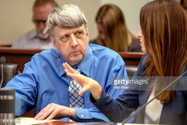 RIVERSIDE CA JUNE 20 2018 Defendant David Turpin left and his attorney Allison Lowe during a preliminary hearing in Riverside Superior Court...