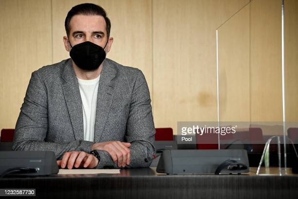 Defendant Former professional football player Christoph Metzelder arrives in the courtroom for the first day of his trial on charges of possessing...
