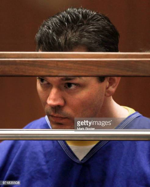 Defendant John Lenzie Creech charged with the murder of 20th Century Fox executive Gavin Smith listens in Los Angeles Superior Court during his...