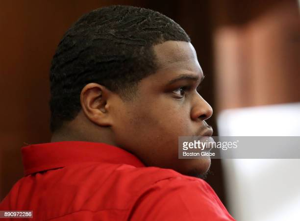 Defendant Keith Williams looks on during the first day of his firstdegree murder trial at Suffolk Superior Court in Boston on Dec 11 2017 Williams...