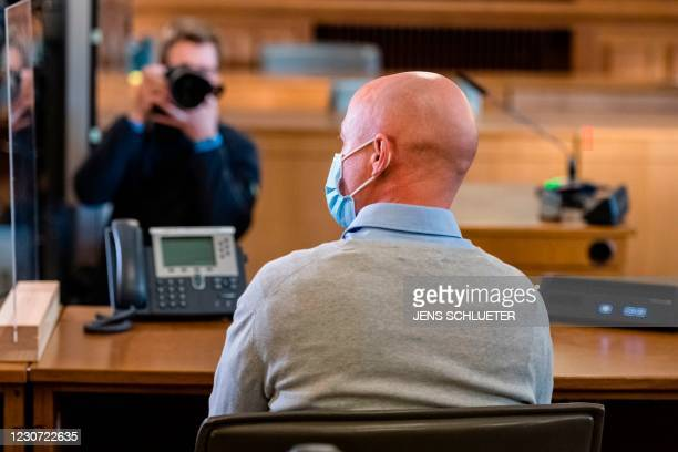 Defendant Philipp S. , a former Bundeswehr soldier of the Special Forces Command waits in the courtroom for the beginning of his trial for violation...