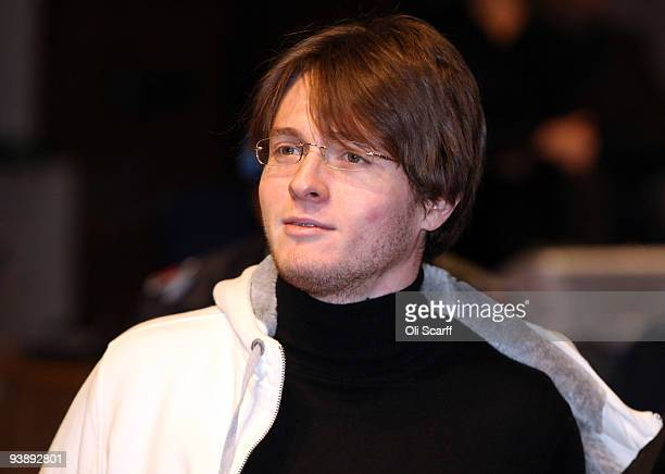 Defendant Raffaele Sollecito arrives in court for the final day of the Meredith Kercher murder trial on December 4 2009 in Perugia Italy Amanda Knox...