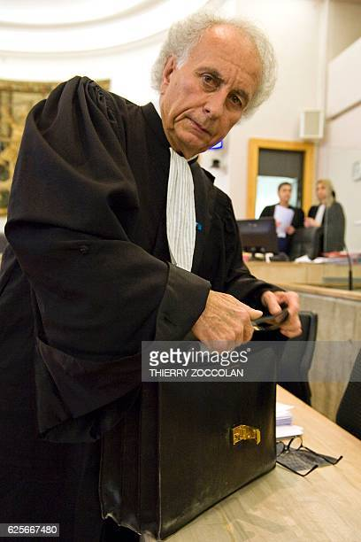 Defendant's French lawyer GillesJean Portejoie is pictured on the 10th day of the trial of Cecile Bourgeon and Berkane Makhlouf charged in relation...