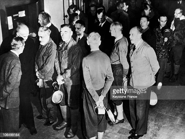 Around November 20 The Nazi Torturers Waiting For Their Meal At The International Court Of Nuremberg From Front Albert Kesselring And On The Back...
