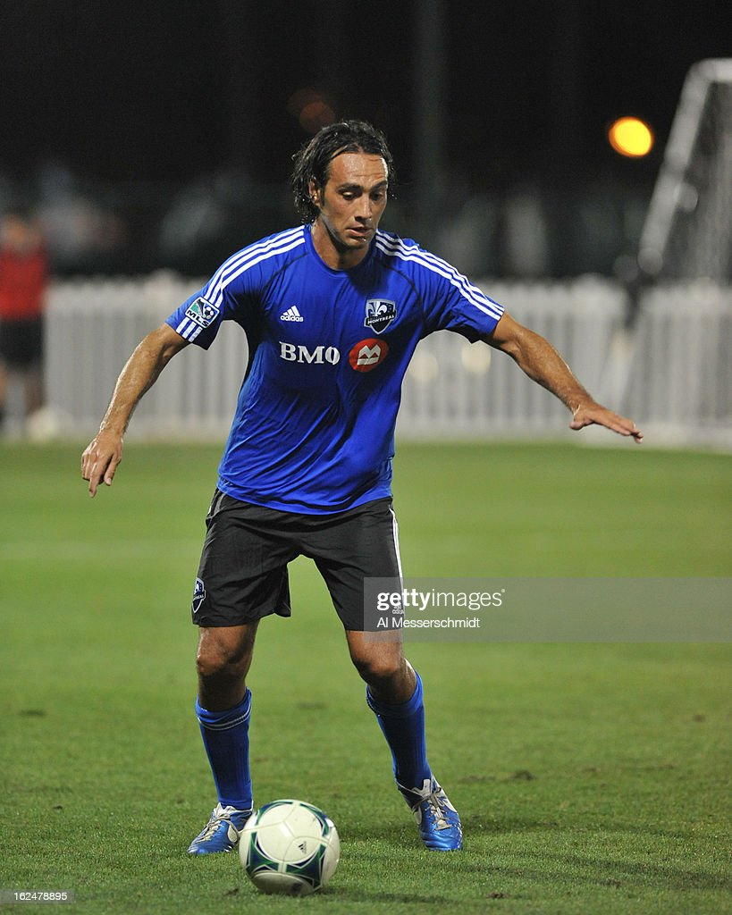 Defender Alessandro Nesta #14 of the Montreal Impact runs upfield against the Columbus Crew in the final round of the Disney Pro Soccer Classic on February 23, 2013 at the ESPN Wide World of Sports Complex in Orlando, Florida.