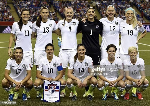 USA defender Ali Krieger forward Alex Morgan defender Becky Sauerbrunn goalkeeper Hope Solo midfielder Lauren Holiday and defender Julie Johnston USA...