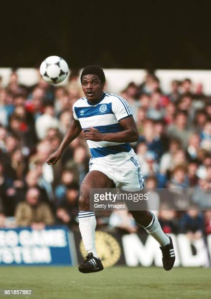 Defender Bob Hazell in action on the Loftus Road artificial Turf during a match circa 1983.