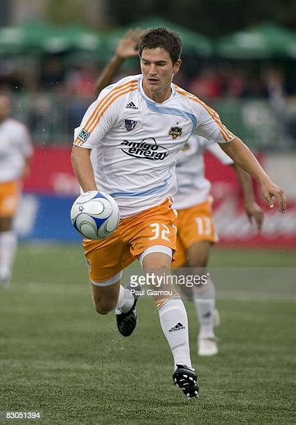Defender Bobby Boswell of the Houston Dynamo chases down the ball during the match against Toronto FC on September 27, 2008 at BMO Field in Toronto,...