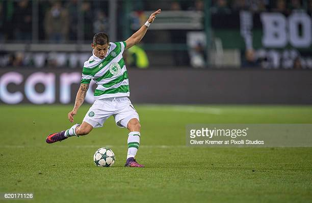 Defender Cristian Gamboa of Celtic FC Glasgow 1888 passing the ball during the UEFA Champions League group C match between VfL Borussia...