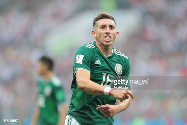 defender Hector Herrera of Mexico National team during the group F match between Germany and Mexico at the 2018 soccer World Cup at Luzhniki stadium...