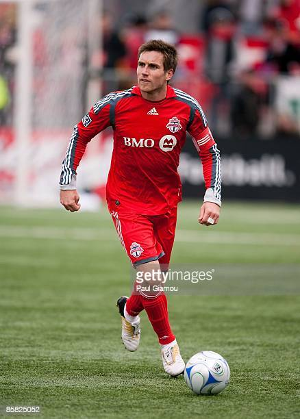 Defender Jim Brennan of the Toronto FC controls the ball during the match against the Seattle Sounders FC at BMO Field on April 4 2009 in Toronto...
