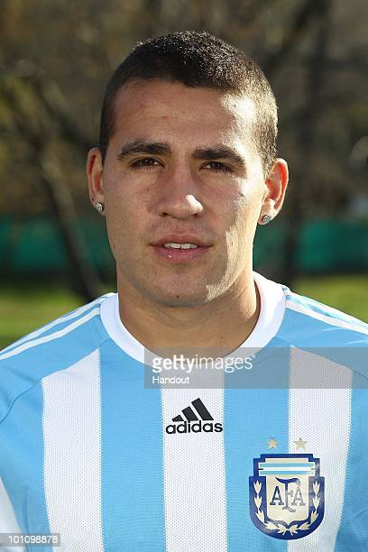 Defender Nicolas Otamendi of Argentina's National team for the 2010 FIFA World Cup South Africa poses during a photo session on May 26 2010 in Buenos...