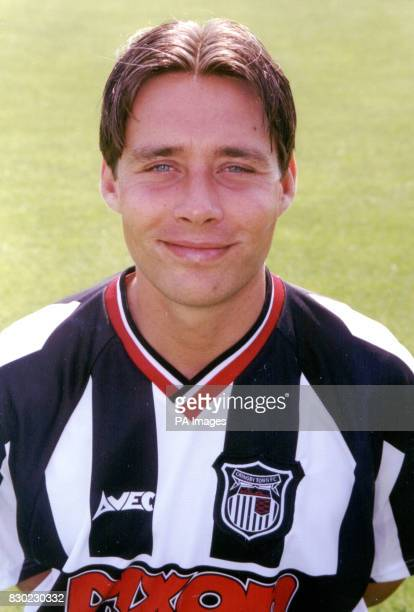 Defender Peter Handyside who plays for First Division Grimsby Town FC at Blundell Park Stadium