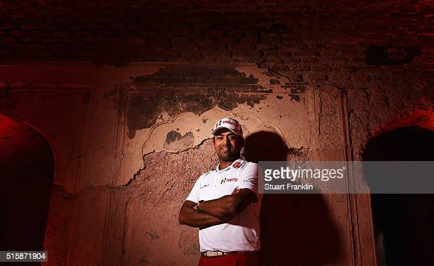 Defending Champion Anirban Lahiri of India poses for a photograph prior to the start of the Hero Indian Open golf at Delhi Golf Club on March 16 2016...
