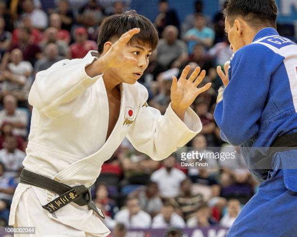 Defending champion Hifumi Abe of Japan defeated former World champion Georgii Zantaraia of Ukraine by an ippon on his way to the u66kg final and his...