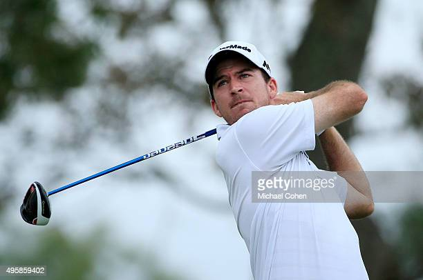 Defending champion Nick Taylor of Canada tees off on the second hole during the first round of the Sanderson Farms Championship at The Country Club...