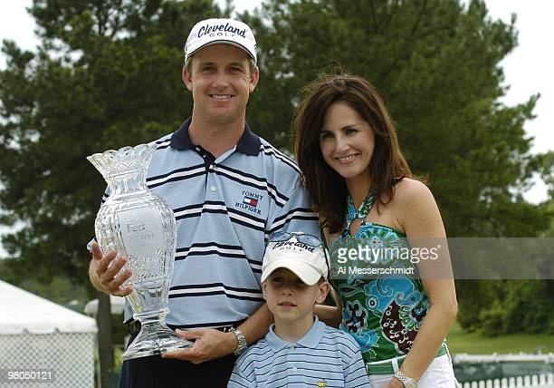 Defending chamption David Toms repeats as winner of the FedEx St Jude Classic May 30 2004 at the Tournament Players Club Southwind Memphis Tennessee...