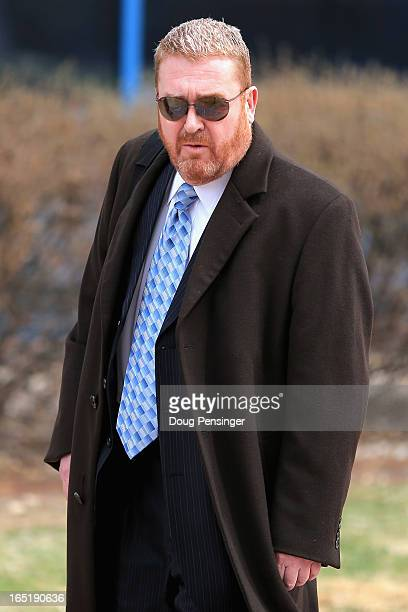 Defense attorney Daniel King for Aurora theater shooting suspect James Holmes leaves the courthouse after it was announced during a hearing that the...