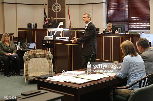Defense attorney David Barszcz presents his opening arguments to the jury for Amanda Brumfield on trial for murder in Judge Reginald K Whitehead's...