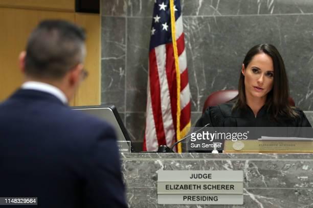 Defense attorney David Sobel argues in front of Broward Circuit Judge Elizabeth Scherer during a hearing for former Broward Sheriff's Office deputy...