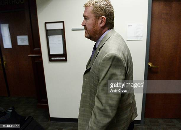 Defense attorney for James Holmes Daniel King arrives at the Arapahoe County Justice Center for a motion hearing involving particular procedures...