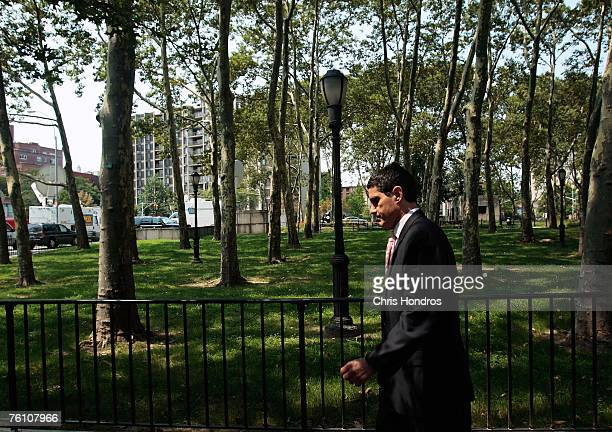 Defense attorney John Lauro walks away from Brooklyn Federal Courthouse after his client, former NBA referee Tim Donaghy, pleaded guilty to two...