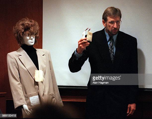 Defense Attorney Neil Quinn removed the sunglasses from a mannequin during closing arguments on Thursday, telling jurors that the killer of Sherri...