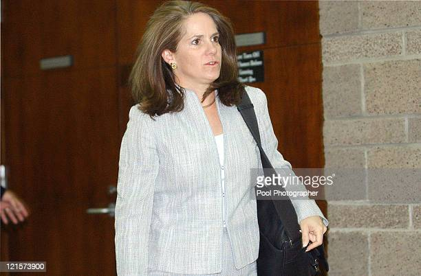 Defense attorney Pam Mackey arrives at Eagle County Courthouse in Eagle CO on August 30 2004