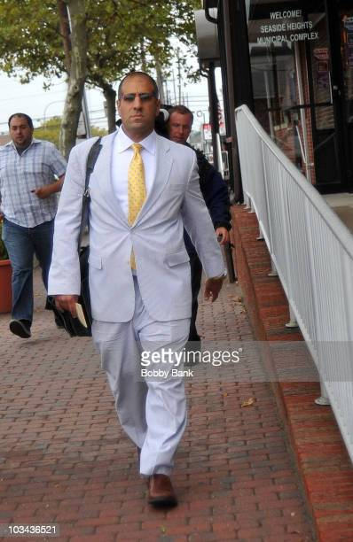 Defense attorney Raymond Raya representing 'Jersey Shore' cast member Nicole 'Snooki' Polizzi attends a court hearing at Seaside Heights Municipal...