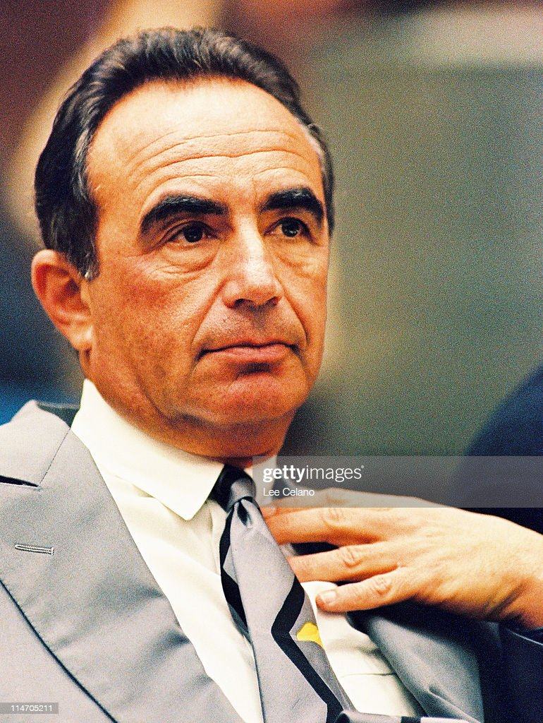 Defense attorney Robert Shapiro is shown during a preliminary hearing following the murders of O.J. Simpson's ex-wife Nicole Brown Simpson and her friend Ronald Goldman July 7, 1994 in Los Angeles.