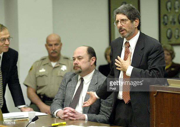 Defense attorney Steven Feldman argues for his client David Westerfield at his death penalty court hearing at the Superior Courthouse January 3 2002...