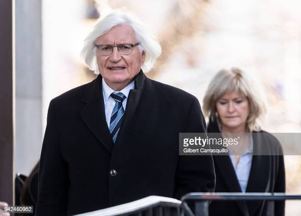 Defense attorneys Thomas Mesereau and Kathleen Bliss leaving the Montgomery County Courthouse after jury selection for Bill Cosby's sexual assault...