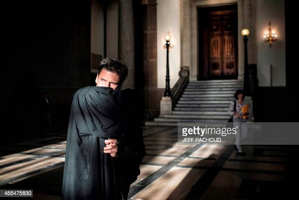 Defense lawyer David Metaxas is pictured on September 15 2014 at Lyon's court on the opening day of the Global cash robbery trial A court of the...