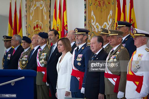 Defense minister Carme Chacon during Spanish Armed Forces Day on May 29 2011 in Malaga Spain