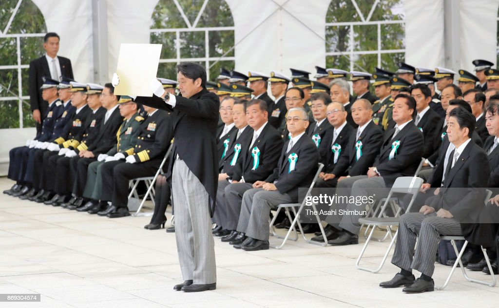 PM Abe Attends Ceremony Commemorating SDF Members Lost Lives On Duty