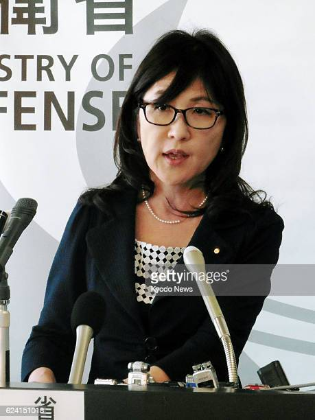 Defense Minister Tomomi Inada attends a press conference in Tokyo on Nov 18 after issuing an order to a Ground SelfDefense Force unit to be sent to...