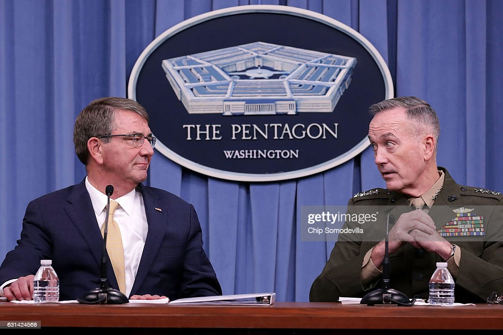 Defense Secretary Carter And Joint Chiefs Chairman Dunford Brief Media