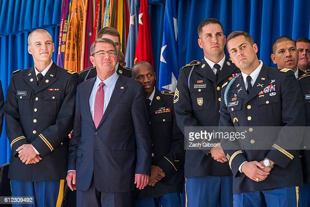 Ash Carter Hosts Ceremony To Honor Military Olympians And