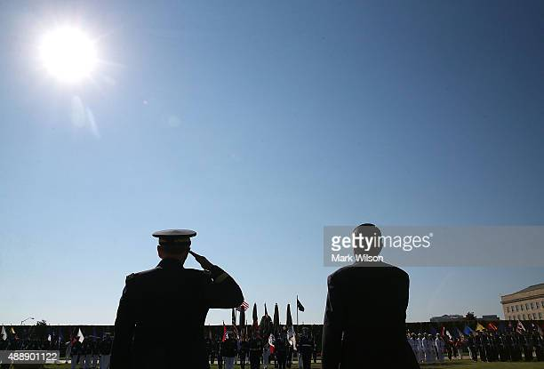 S Defense Secretary Ashton Carter and Chairman of the Joint Chiefs of Staff Gen Martin Dempsey participate in the Defense Department's National...