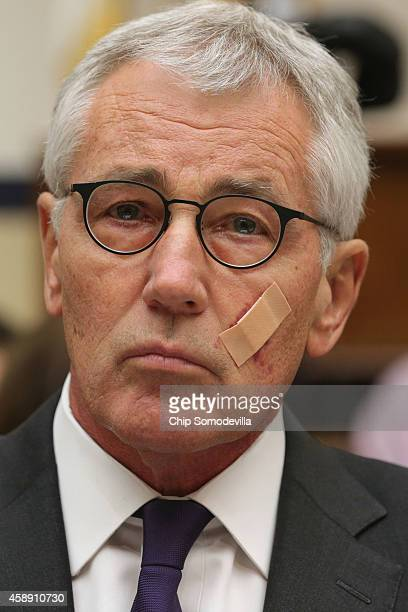S Defense Secretary Chuck Hagel testifies before the House Armed Services Committee about the ongoing fight against the group calling itself the...